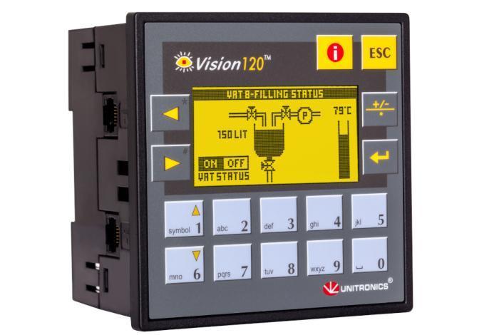 PLC+HMI V120 Unitronics