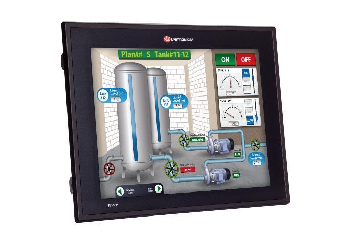 Vision V1210 – Sterownik PLC z dużym panelem HMI