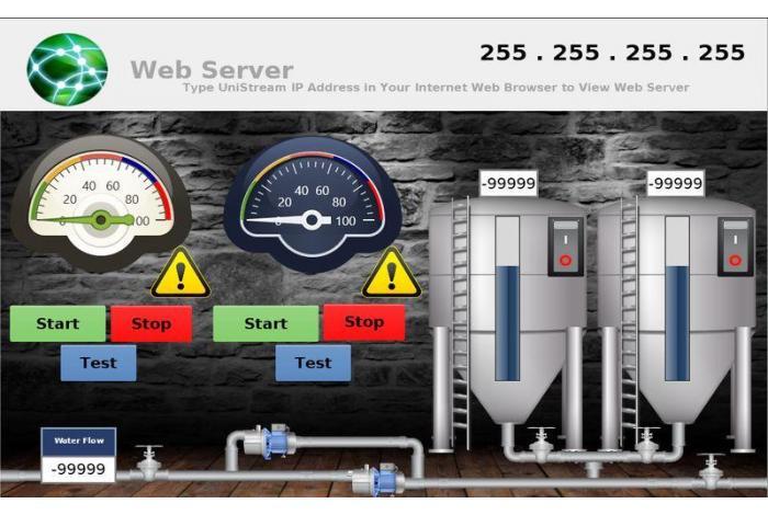 Web Server w sterownikach UniStream