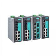 8-portowe przemysłowe switche zarządzalne na szynę DIN z portami światłowodowymi